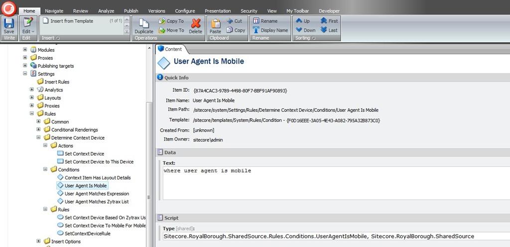 sitecore how to set item to folder